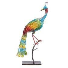 Beautiful Metal Peacock Statue