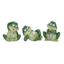Casual Frog Decor Figurine (Set of 3)
