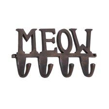 "Aluminum ""Meow"" Wall Hook"
