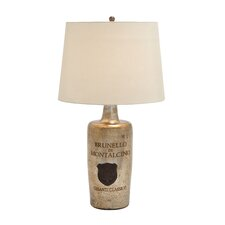 "Glass 28"" H Table Lamp with Empire Shade"