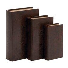 3 Piece Decorative Wood Vinyl Book Box Set