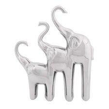 Ceramic Trio Elephant Home Decor Figurine