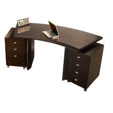 Bali Rectangular Desk with Mobile Pedestals