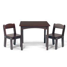 WonkaWoo Deluxe Children's 3 Piece Table and Chair Set