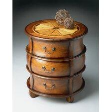 Olive Ash Burl Barrel Table