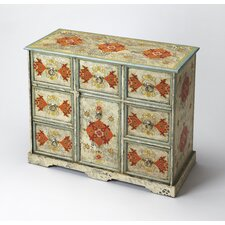 Artifacts Hand Painted 8 Drawer Accent Chest