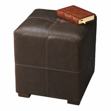 Modern Expressions Leather Cube Ottoman
