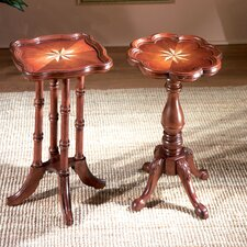Plantation Cherry Oval Scatter End Table