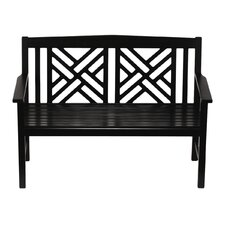 Fretwork Wood Garden Bench