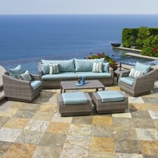 Cannes™ 8 Piece Deep Seating Group with Cushion