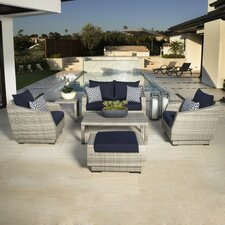 Cannes 6 Piece Deep Seating Group with Cushion