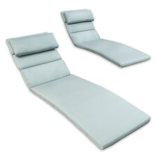 Deco Chaise Lounge Outdoor Bolster Pillow (Set of 2)