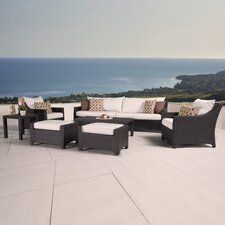 Deco 8 Piece Deep Seating Group with Cushion