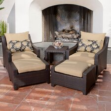 Deco 5 Piece Seating Group with Cushions