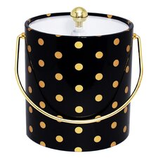 Polka Dot Ice Bucket