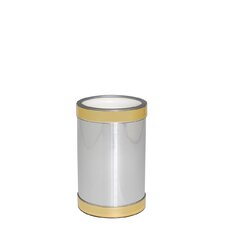 Brushed Silver Wine Chiller with Gold Band