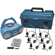 6 Person Val-U-Pack Bluetooth/CD/Cassette Listening Center