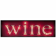 Mieko Wine Light Up Textual Art