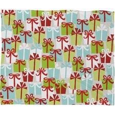 Andrea Victoria Jolly Gifts Plush Fleece Throw Blanket