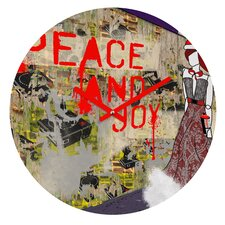Amy Smith Urban Holiday Wall Clock
