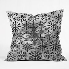 Ruby Door Snow Leopard Snowflake Throw Pillow