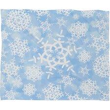 Lisa Argyropoulos Snow Flurries Plush Fleece Throw Blanket
