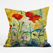 Ginette Fine Art Poppies Provence Indoor/Outdoor Throw Pillow