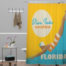 Anderson Design Group Dive Florida Shower Curtain
