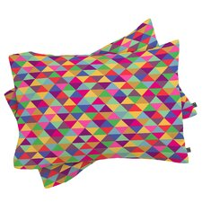 Bianca Green In Love With Triangles Pillowcase