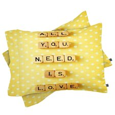 Happee Monkee All You Need Is Love 1 Pillowcase
