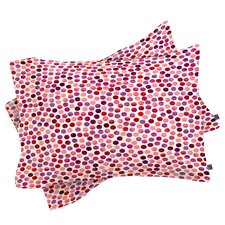 Garima Dhawan Watercolor Dots Berry Pillowcase