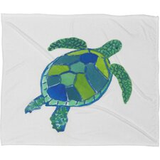 Sea Turtle Fleece by Laura Trevey Polyester Throw Blanket