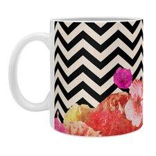 Bianca Green Chevron Flora 2 Coffee Mug