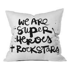 Kal Barteski Superheroes Throw Pillow