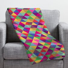 Bianca Green in Love with Triangles Throw Blanket