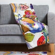 CayenaBlanca Blossom Pastel Throw Blanket