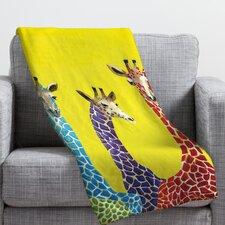 Clara Nilles Jellybean Giraffes Throw Blanket