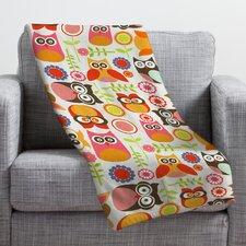 Valentina Ramos Cute Little Owls Throw Blanket