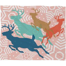 Heather Dutton Dashing Through The Snow Serene Fleece Polyester Throw Blanket