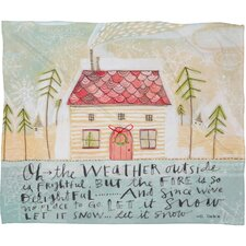 Cori Dantini Let It SnowFleece Polyester Throw Blanket