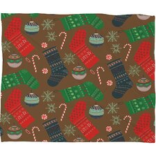 Pimlada Phuapradit Christmas Ornaments Fleece Polyester Throw Blanket