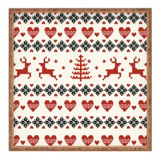 Natt Knitting Deer White Hearts Tray