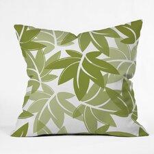 Sabine Reinhart Leaves Polyester Throw Pillow