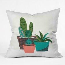 Zoe Wodarz Cactus Afternoon Polyester Throw Pillow