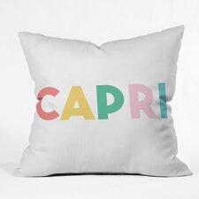 Zoe Wodarz Capri Getaway Polyester Throw Pillow