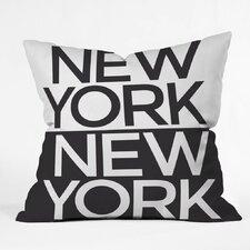 Zoe Wodarz I Heart NYC Polyester Throw Pillow