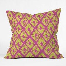 Zoe Wodarz Electric Pineapple Polyester Throw Pillow