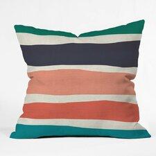 Zoe Wodarz Paper Stripe Polyester Throw Pillow