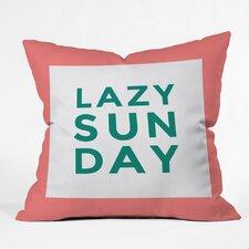 Zoe Wodarz Lazy Sunday Polyester Throw Pillow
