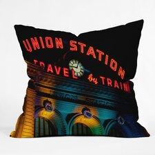 Bird Wanna Whistle Union Station Indoor/Outdoor Throw Pillow